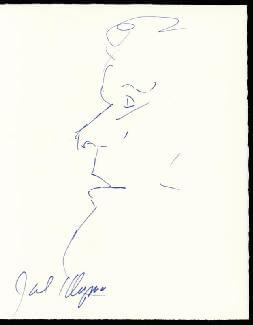 JACK KLUGMAN - SELF-CARICATURE SIGNED