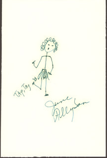 JUNE ALLYSON - SELF-CARICATURE SIGNED