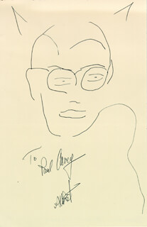 ADAM WEST - INSCRIBED SELF-CARICATURE SIGNED