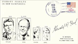 PRESIDENT GERALD R. FORD - COMMEMORATIVE ENVELOPE SIGNED