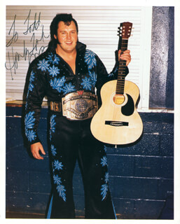 Autographs: WAYNE HONKY TONK MAN FERRIS - INSCRIBED PHOTOGRAPH SIGNED