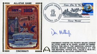 DON MATTINGLY - COMMEMORATIVE ENVELOPE SIGNED
