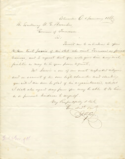 MAJOR GENERAL JACOB D. COX - AUTOGRAPH LETTER SIGNED 01/06/1866