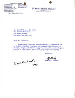 Autographs: ROBERT F. KENNEDY - TYPED LETTER SIGNED