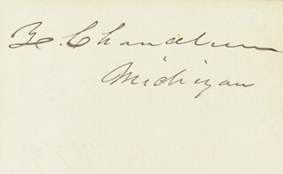Autographs: ZACHARIAH CHANDLER - CLIPPED SIGNATURE CO-SIGNED BY: MORTON S. WILKINSON