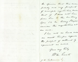 Autographs: WILLIAM M. EVARTS - AUTOGRAPH LETTER SIGNED 05/14/1870
