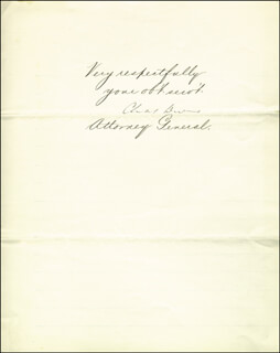 CHARLES DEVENS - MANUSCRIPT LETTER SIGNED 04/02/1878