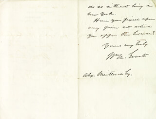 Autographs: WILLIAM M. EVARTS - AUTOGRAPH LETTER SIGNED 02/08/1878