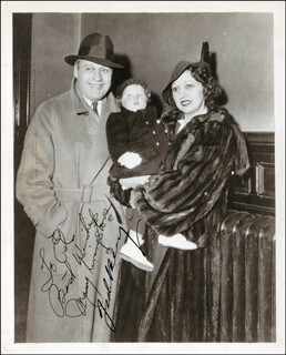 JACK BENNY - AUTOGRAPHED INSCRIBED PHOTOGRAPH CO-SIGNED BY: MARY (MRS. JACK BENNY) LIVINGSTONE