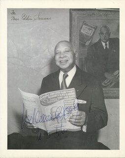 W.C. HANDY - AUTOGRAPHED SIGNED PHOTOGRAPH 06/05/1956