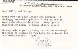 WILLARD H. SCOTT JR. - TYPED LETTER SIGNED
