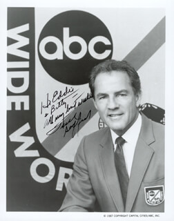 FRANK GIFFORD - INSCRIBED PRINTED PHOTOGRAPH SIGNED IN INK