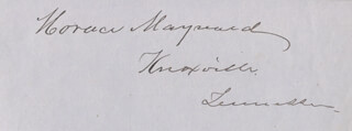 Autographs: HORACE MAYNARD - SIGNATURE(S) CO-SIGNED BY: EDWARD KENT