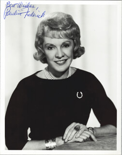 PAULINE FREDERICK ROBBINS - AUTOGRAPHED SIGNED PHOTOGRAPH