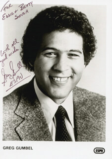GREG GUMBEL - AUTOGRAPHED INSCRIBED PHOTOGRAPH