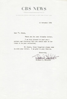 RICHARD C. HOTTELET - TYPED LETTER SIGNED 11/21/1964