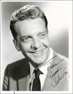 CHET HUNTLEY - AUTOGRAPHED INSCRIBED PHOTOGRAPH