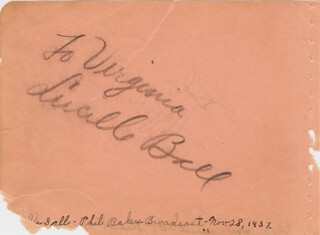 Autographs: LUCILLE LUCY BALL - INSCRIBED SIGNATURE CIRCA 1937 CO-SIGNED BY: BOB HOPE