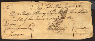 OLIVER WOLCOTT JR. - MANUSCRIPT PROMISSORY NOTE SIGNED 06/01/1781 CO-SIGNED BY: WILLIAM MOSELEY