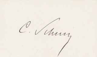 Autographs: MAJOR GENERAL CARL SCHURZ - SIGNATURE(S)