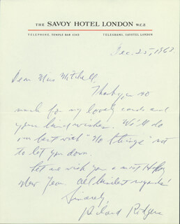RICHARD RODGERS - AUTOGRAPH LETTER SIGNED 12/25/1963
