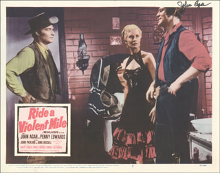 Autographs: JOHN AGAR - LOBBY CARD SIGNED