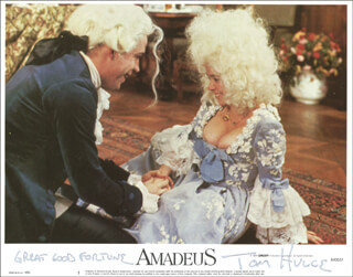 TOM HULCE - LOBBY CARD SIGNED