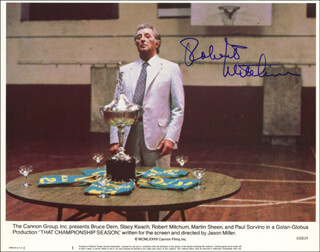 ROBERT MITCHUM - LOBBY CARD SIGNED