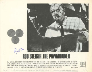 ROD STEIGER - LOBBY CARD SIGNED