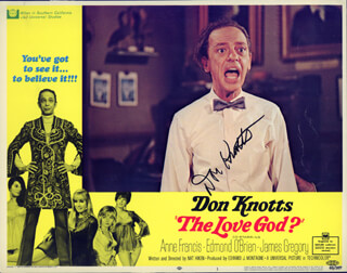DON KNOTTS - LOBBY CARD SIGNED