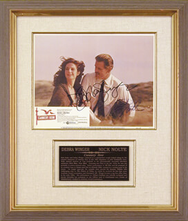 CANNERY ROW MOVIE CAST - LOBBY CARD SIGNED CO-SIGNED BY: NICK NOLTE, DEBRA WINGER