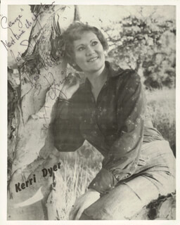 KERRI DYER - AUTOGRAPHED INSCRIBED PHOTOGRAPH
