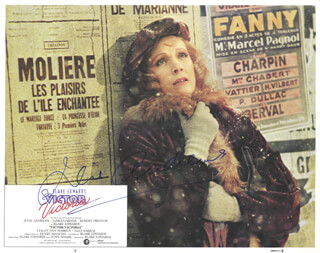 JULIE ANDREWS - LOBBY CARD SIGNED