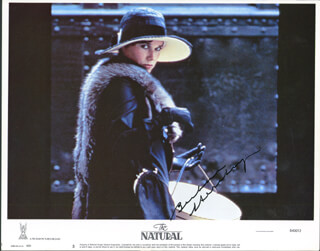 BARBARA HERSHEY - LOBBY CARD SIGNED