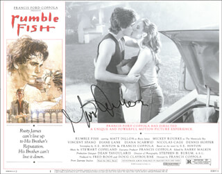 MATT DILLON - LOBBY CARD SIGNED