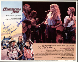 HONEYSUCKLE ROSE MOVIE CAST - LOBBY CARD SIGNED CO-SIGNED BY: AMY IRVING, DYAN CANNON, WILLIE NELSON