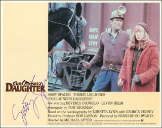 SISSY SPACEK - LOBBY CARD SIGNED