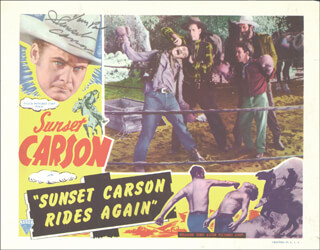 SUNSET CARSON - LOBBY CARD SIGNED