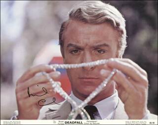 MICHAEL CAINE - LOBBY CARD SIGNED