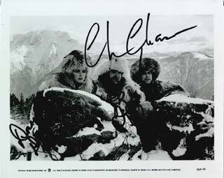 SPIES LIKE US MOVIE CAST - AUTOGRAPHED SIGNED PHOTOGRAPH CO-SIGNED BY: CHEVY CHASE, DAN AYKROYD, DONNA DIXON