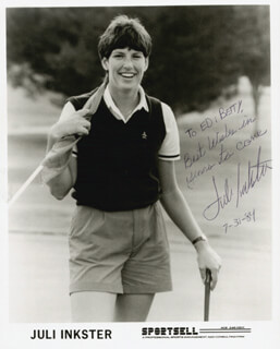 JULI INKSTER - AUTOGRAPHED INSCRIBED PHOTOGRAPH 07/31/1984