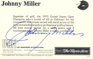 JOHNNY MILLER - PICTURE POST CARD SIGNED
