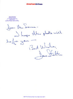 DAVE STOCKTON - AUTOGRAPH LETTER SIGNED