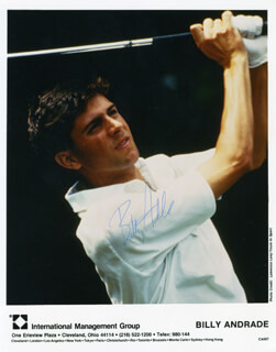 Autographs: BILLY ANDRADE - PRINTED PHOTOGRAPH SIGNED IN INK
