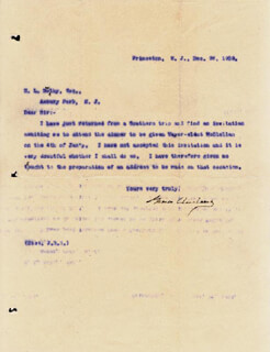 PRESIDENT GROVER CLEVELAND - TYPED LETTER SIGNED 12/26/1903