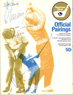 LEE TREVINO - PROGRAM SIGNED CIRCA 1969 CO-SIGNED BY: GAY BREWER, DAN SIKES, TOM WEISKOPF