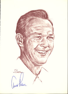 ARNOLD PALMER - PRINTED ART SIGNED IN INK