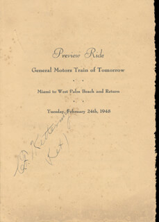 Autographs: CHARLES F. KETTERING - PROGRAM SIGNED CIRCA 1948