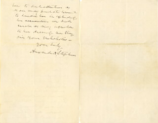 VICE PRESIDENT ALEXANDER H. STEPHENS - AUTOGRAPH LETTER SIGNED CIRCA 1872