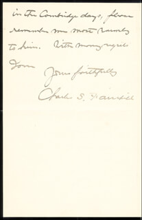 CHARLES S. FAIRCHILD - AUTOGRAPH LETTER SIGNED 12/28/1892